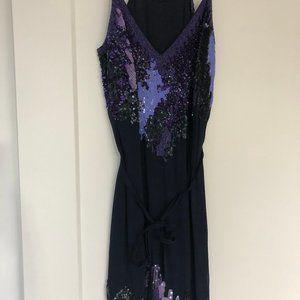NWOT Purple Sequin French Connection Dress Sz 0